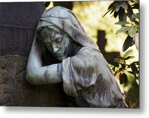 Cemetery Metal Print featuring the photograph In The Shadows by Marc Huebner