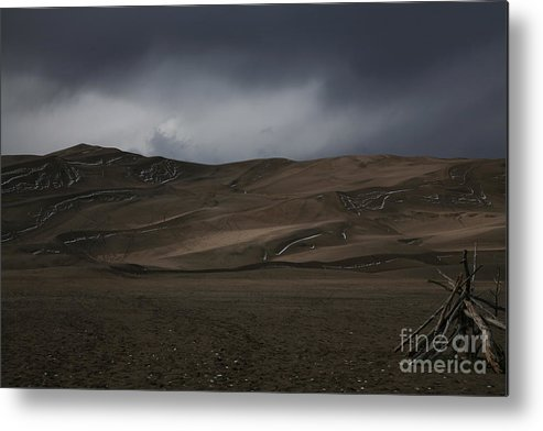 Sand Dunes Metal Print featuring the photograph Incoming Storm by Timothy Johnson