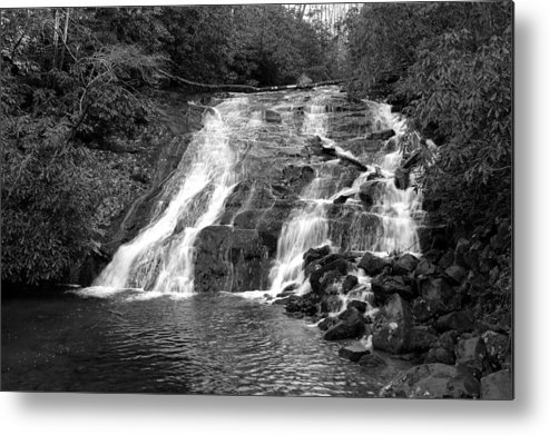 Nature Metal Print featuring the photograph Indian Falls At Deep Creek by Kathy Schumann