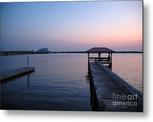 Sunset Metal Print featuring the photograph Indian River Sunset by Kathi Shotwell