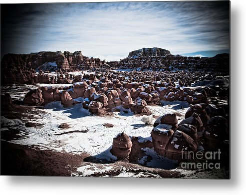 Outdoors Metal Print featuring the photograph Inhabitants Of Goblin Valley by Irene Abdou