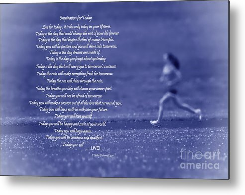 Inspiration Metal Print featuring the digital art Inspiration For Today Runner by Cathy Beharriell