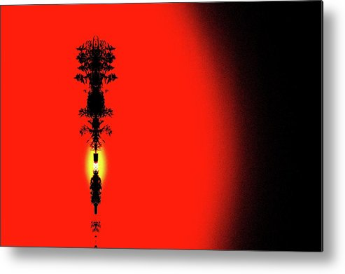Abstract Metal Print featuring the digital art Interstellar Overdrive Five by Lyle Crump