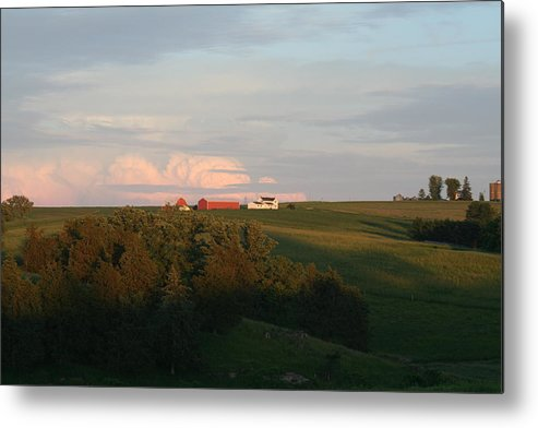 Farms Metal Print featuring the photograph Iowa Farms by Linda Ostby