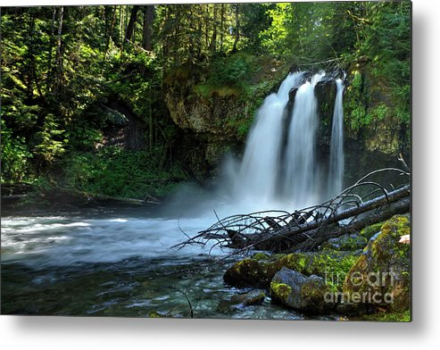 Waterfall Metal Print featuring the photograph Iron Cross Falls by Rick Mann