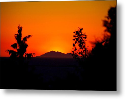 Island Metal Print featuring the photograph Island Sunset by Paul Kloschinsky