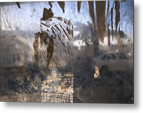 Color Image Metal Print featuring the photograph Israel, Jerusalem Abstract Of A Window by Keenpress