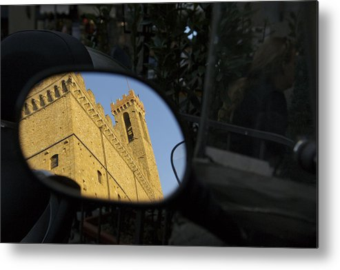 Architecture Metal Print featuring the photograph Italy, Florence, Reflection In Mirror by Sisse Brimberg & Cotton Coulson