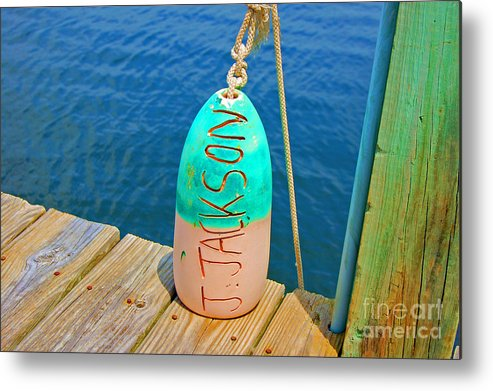 Water Metal Print featuring the photograph Its A Buoy by Debbi Granruth