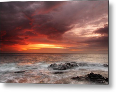Sea Metal Print featuring the photograph January Sunrise by Evgeni Dinev