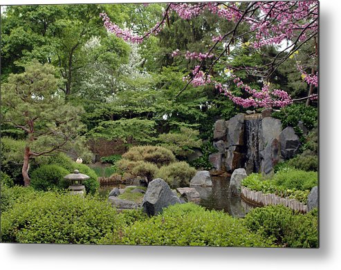 Japanese Garden Metal Print featuring the photograph Japanese Garden II by Kathy Schumann