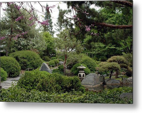 Japanese Garden Metal Print featuring the photograph Japanese Garden IIi by Kathy Schumann