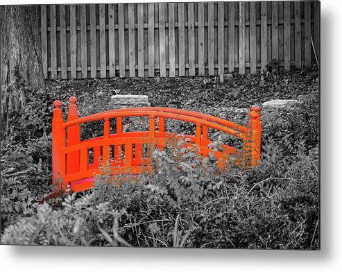 Japanese Metal Print featuring the photograph Japanese Garden by Jeff Chapman