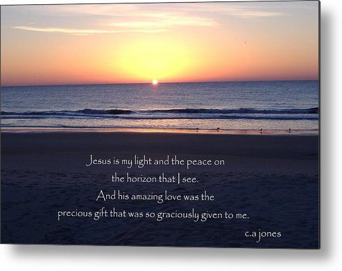 Christian Metal Print featuring the photograph Jesus My Light by Chris Jones
