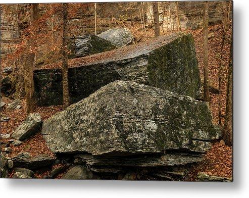 Rocks Metal Print featuring the photograph Jigsaw Rocks by Tim Leimkuhler