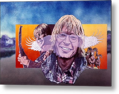 John Denver Metal Print featuring the mixed media John Denver by John D Benson