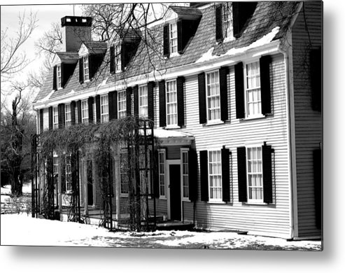 John Quincy Adams Metal Print featuring the photograph John Quincy Adams House Facade by Heather Weikel