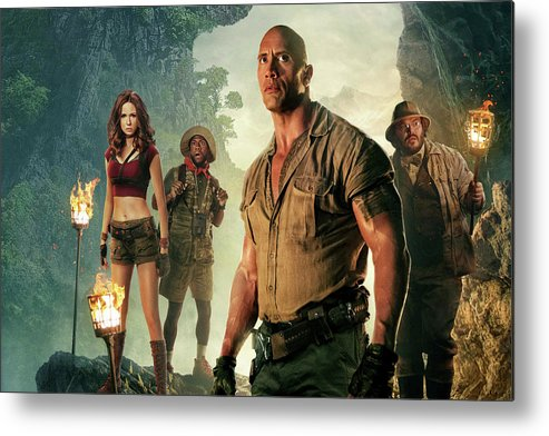 Jumanji Metal Print featuring the mixed media Jumanji Welcome To The Jungle by Movie Poster Prints