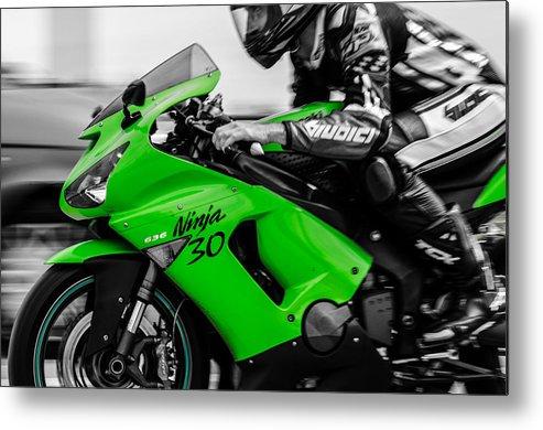 Kawasaki Motorbike Metal Print featuring the photograph Kawasaki Ninja Zx-6r by Andrea Mazzocchetti