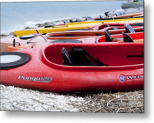 Hilton Head Island Metal Print featuring the photograph Kayak Ready by Marjorie Bazluki