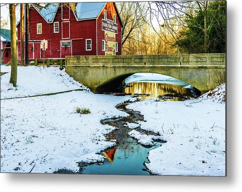 Kirbys Mill Metal Print featuring the photograph Kirby's Mill Landscape - Creek by Louis Dallara