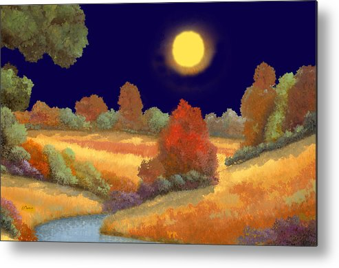 Night Metal Print featuring the painting La Musica Della Notte by Guido Borelli
