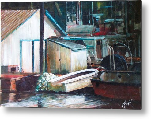 Harbour Metal Print featuring the painting Ladner Harbour by Victoria Heryet