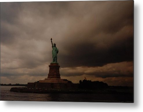 Statue Of Liberty Metal Print featuring the photograph Lady Liberty by Rob Hans