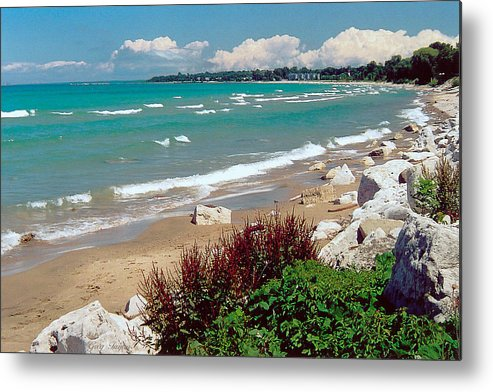 Lake Huron Metal Print featuring the photograph Lake Huron Ontario by Greg Taylor