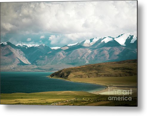 Tibet Metal Print featuring the photograph Lake Manasarovar Kailas Yantra.lv Tibet by Raimond Klavins