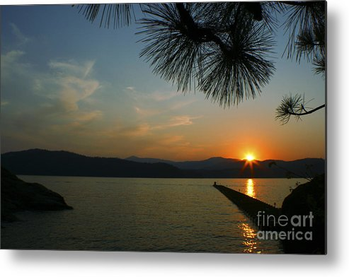 Sunset Metal Print featuring the photograph Lake Sunset by Idaho Scenic Images Linda Lantzy