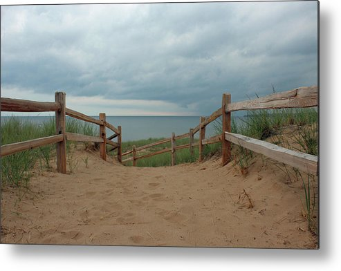 Beach Metal Print featuring the photograph Lake Superior Access by Paul A Williams
