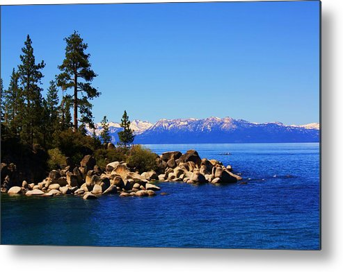 Lake Tahoe Metal Print featuring the photograph Lake Tahoe At Sand Harbor by Russell Barton