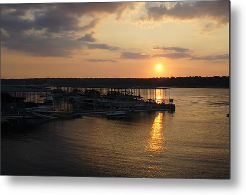 Sunset Metal Print featuring the photograph Lake Travis Sunset Over Carlos N Charlies by David Thompson