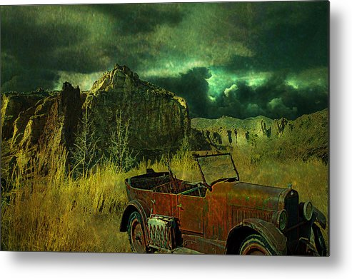 Landscape Metal Print featuring the digital art Land Rover by Jeff Burgess