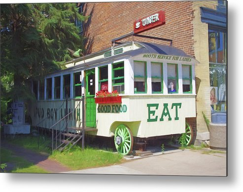 Diner Metal Print featuring the photograph Lanesboro Diner by Tom Reynen