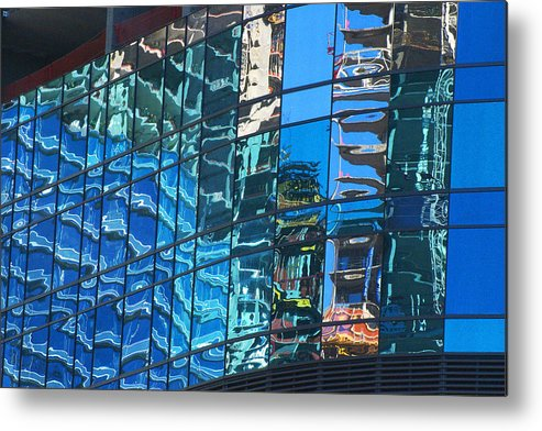 City Center Metal Print featuring the photograph Las Vegas City Center Reflection by Richard Henne
