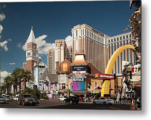 Las Vegas Metal Print featuring the photograph Las Vegas Strip by Christian Hallweger