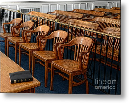 Paul Ward Metal Print featuring the photograph Lawyer - The Courtroom by Paul Ward