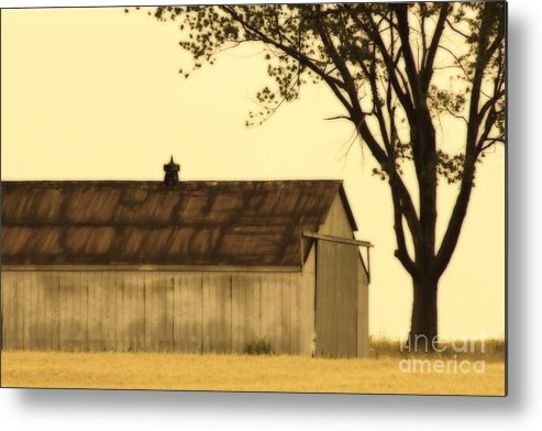 Farm Metal Print featuring the photograph Lazy Days Barn by Cathy Beharriell