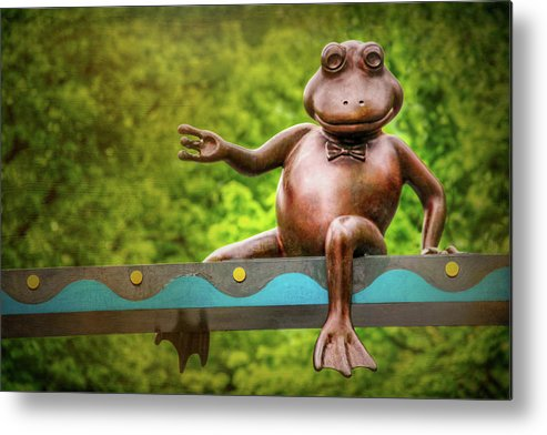 Boston Metal Print featuring the photograph Leaping Frog In Boston by Carol Japp