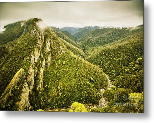 Nature Metal Print featuring the photograph Leven Canyon Reserve Tasmania by Jorgo Photography - Wall Art Gallery
