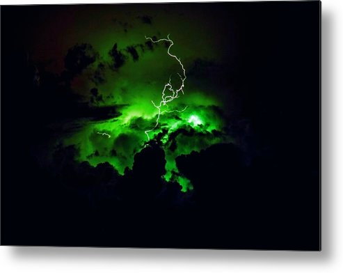 Lightening Metal Print featuring the photograph Lightening Storm by Ca Photography