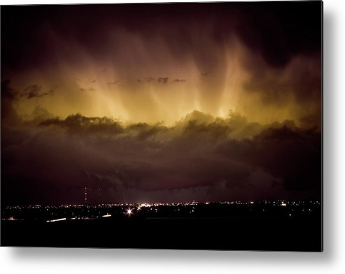 bo Insogna Metal Print featuring the photograph Lightning Cloud Burst Boulder County Colorado Im29 by James BO Insogna