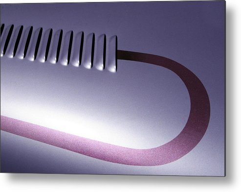 Cars Metal Print featuring the photograph Lilac And Louvers by Roger Mullenhour