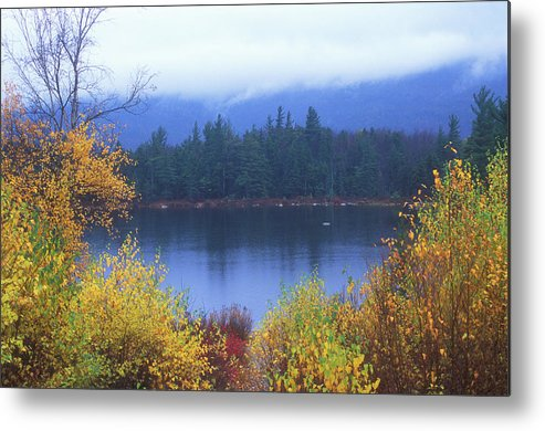 New Hampshire Metal Print featuring the photograph Lily Pond Autumn Kancamagus Highway by John Burk