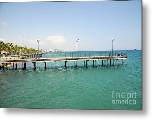 Wharf Metal Print featuring the photograph Limassol Marina by Shay Levy