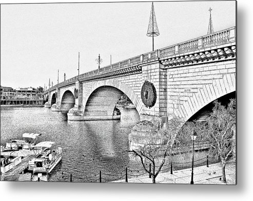 Lake Havasu Metal Print featuring the photograph London Bridge Lake Havasu City Arizona by Christine Till