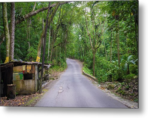 Country Roads Metal Print featuring the photograph Lonely Country Road by Debbie Ann Powell