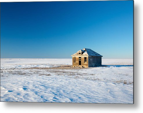 Snow Metal Print featuring the photograph Lonely Place by Todd Klassy